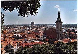 Zicht op Bratislava