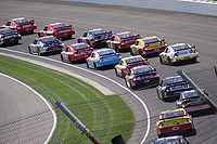 Sprint Cup Series race cars at Indianapolis Motor Speedway in 2009