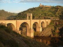 Alcántara Bridge in Spain