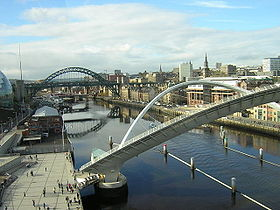 Newcastle et la Tyne vues depuis Gateshead.