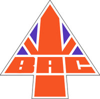 British Aircraft Corporation logo. The logo was adopted by British Aerospace, the successor to BAC.