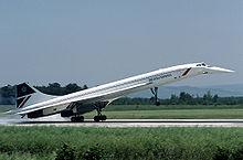 Concorde G-BOAC de British Airways.