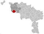 Situation de la ville au sein dela province de Hainaut