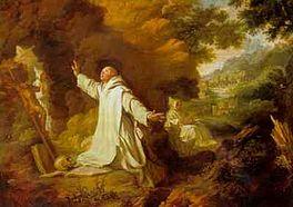 De heilige Bruno in het woeste landschap van La Grande Chartreuse