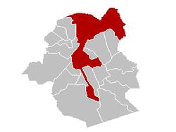 ligging in het Brussels Hoofdstedelijk Gewest