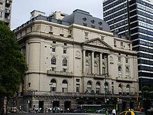 Edificio de la Bolsa de Comercio de Buenos Aires. La ciudad es el centro financiero de la Argentina.