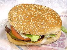 A Whopper sandwich