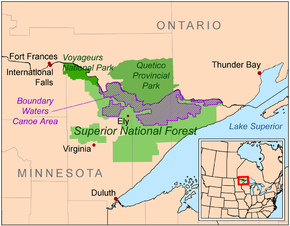 Protected areas along the international boundary