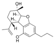 Chemical structure of C3-cannabielsoin.