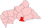 Location of Basse-Kotto Prefecture in the Central African Republic