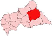 Location of Haute-Kotto Prefecture in the Central African Republic