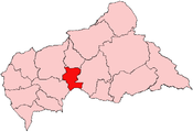 Location of Kémo Prefecture in the Central African Republic