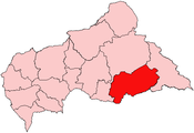 Location of Mbomou Prefecture in the Central African Republic