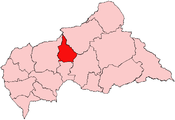 Location of Nana-Grébizi Economic Prefecture in the Central African Republic