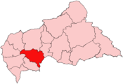 Location of Ombella-M'Poko Prefecture in the Central African Republic