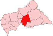 Location of Ouaka Prefecture in the Central African Republic