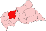 Location of Ouham Prefecture in the Central African Republic