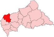 Location of Ouham-Pendé Prefecture in the Central African Republic