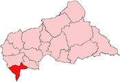 Location of Sangha-Mbaéré Economic Prefecture in the Central African Republic