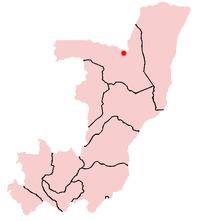 Localisation de Ouésso en République du Congo