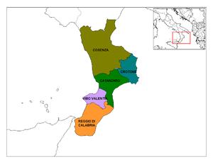 Provinces of Calabria.