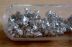 Calcium stored under argon atmosphere