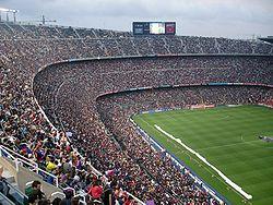 El Camp Nou desde dentro