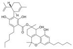 Chemical structure of cannabidiolic acid A cannabitriol ester.