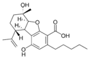 Chemical structure of cannabielsoic acid A.