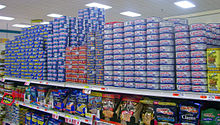Photo of grocery shelves