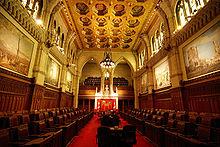 The Senate of Canada sits in the Centre Block in Ottawa