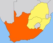 Ubicación de Colonia del Cabo