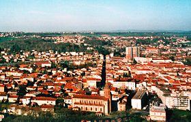 Vue sur le centre ville de Carmaux