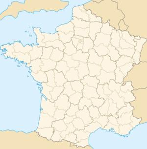 Ubicación de Nimes en Francia