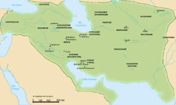 Ubicación de Imperio sasánida