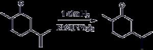 Carvone hydrogenation