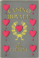 The book cover to the Casino Royale first edition
