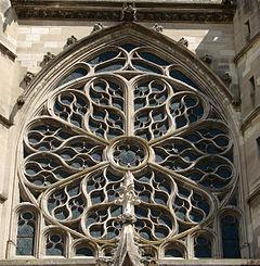 Rosetón de la catedral de Meaux