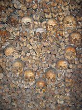 Des crânes dans les catacombes