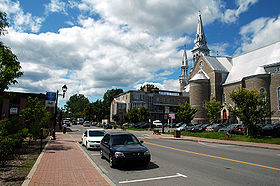 La cathédrale de Saint-Jérôme, centre-ville, (Québec Canada)