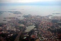 Central Helsinki from plane.jpg