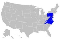 Central Intercollegiate Athletic Association locations