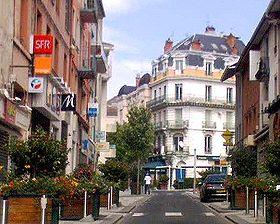 Vue du centre-ville d'Oyonnax
