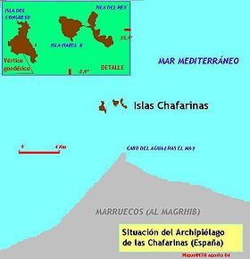 Carte des îles Zaffarines.