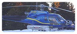 Photographie d'un hélicoptère utilisé pour les transports