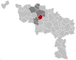 Chièvres Hainaut Belgium Map.png