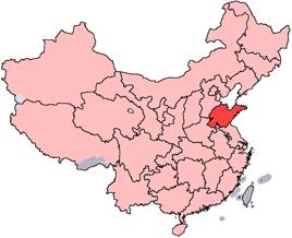 Carte de Shandong