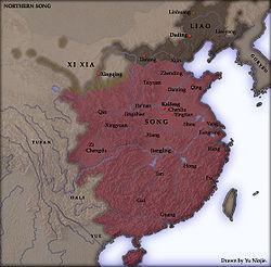Ubicación de Dinastía Song