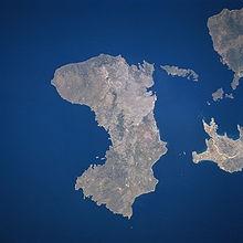 Satellite image of Chios