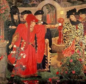 Choosing the Red and White Roses.jpg